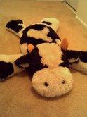 Old stuffed bull